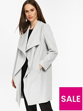 wallis-petite-waterfall-coat-grey