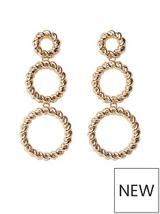 river-island-river-island-twist-triple-hoop-earrings-gold