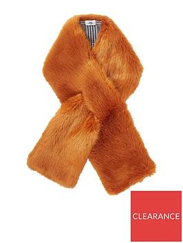 river-island-faux-fur-scarf-rust