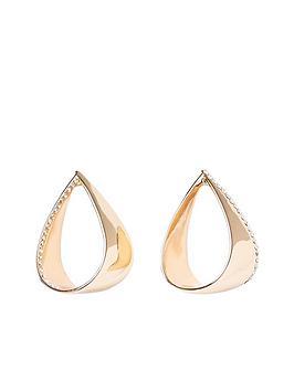 river-island-folded-stud-earring