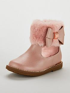 baker-by-ted-baker-girls-faux-fur-cuff-boots-rose-gold