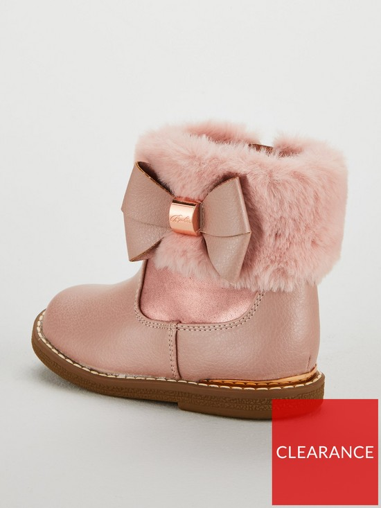 52b7413cea543 ... Ted Baker Girls Faux Fur Cuff Boots - Rose Gold. 2 people are looking  at this right now.