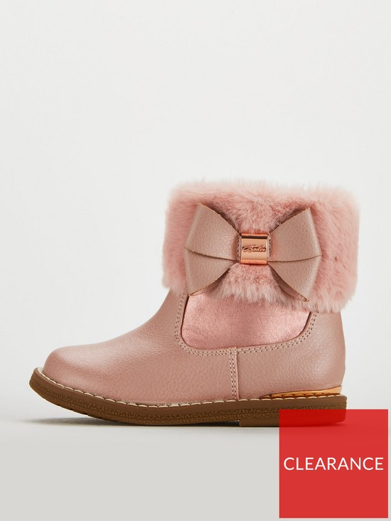 41ce75aff8d02e Baker by Ted Baker Girls Faux Fur Cuff Boots - Rose Gold