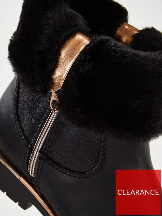 c2e82a79bfae6 ... Ted Baker Girls Faux Fur Fold Over Boot. View larger