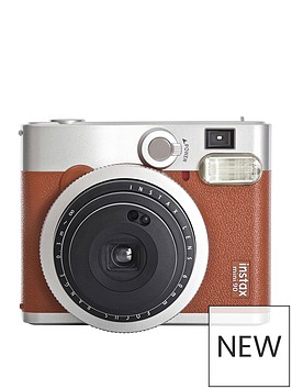 fujifilm-instax-mini-90-instant-cameranbspincluding-10-or-30-pack-of-paper-brown