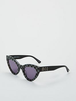 Mcq Alexander Mcqueen Gingham Acetate Cateye Sunglasses