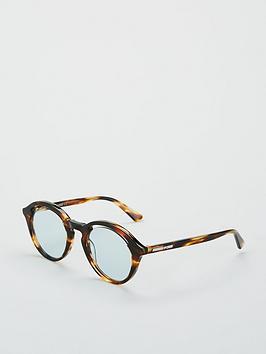 Mcq Alexander Mcqueen Round Cut Out Sunglasses