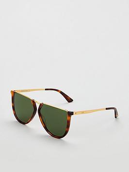 Mcq Alexander Mcqueen Havanna Flatop Sunglasses