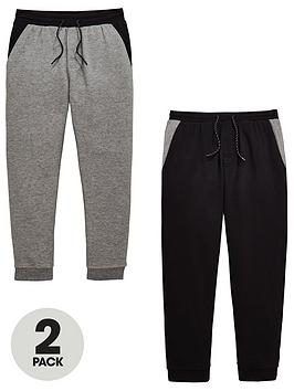 v-by-very-boys-2-pack-colour-block-skinny-fit-joggers-blackgrey