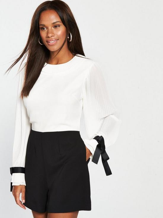 21c8b3e200 Ted Baker Contrast Pleated Playsuit
