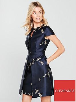 ted-baker-dragonfly-jacquard-dress-dark-bluenbsp