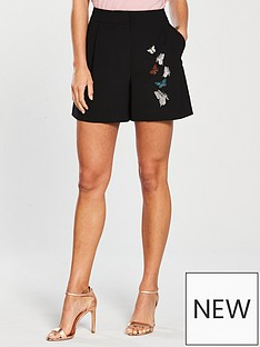 ted-baker-syennaa-embroidered-short-blacknbsp