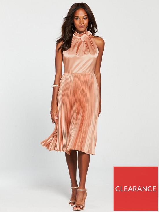 8c5fbcdc6d17 Ted Baker Shineey Pleated Dress - Dusky Pink