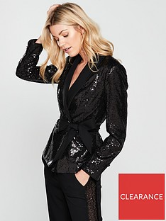 ted-baker-sequin-tie-belt-jacket-blacknbsp