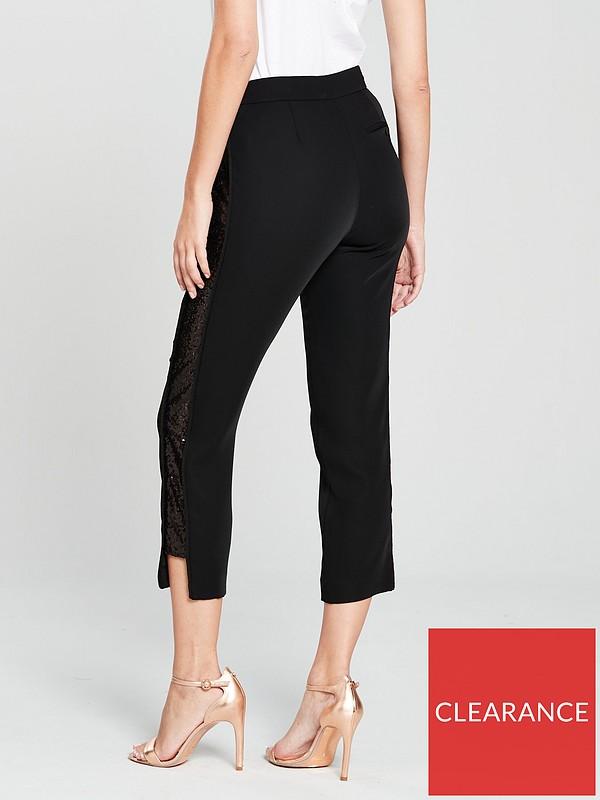 bff42c285ae5 Ted Baker Sequin Side Panel Trouser - Black