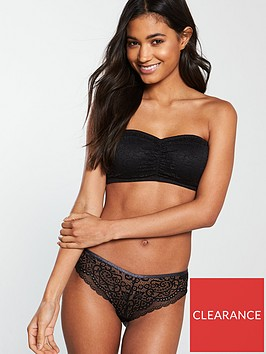 v-by-very-corded-french-knicker-black