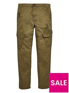 095d2fa0674 V by Very Boys Woven Angled Cargo Jog Pants - Khaki