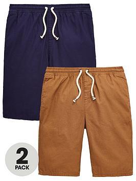 v-by-very-boys-2-pack-woven-shorts-tannavy