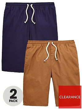 v-by-very-boys-2-pack-woven-shorts-tannavy