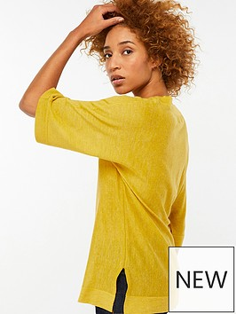 monsoon-vicki-v-neck-linen-blend-jumper-ochre