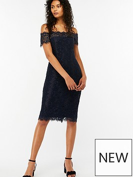 monsoon-bronwyn-bardot-lace-dress-navy