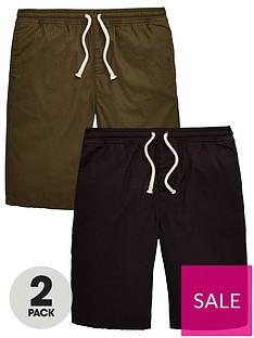 v-by-very-boys-2-pack-woven-shorts-blackkhaki