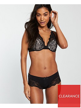 v-by-very-lace-trim-short-black