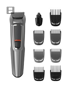 Philips Philips Series 3000 9-in-1 Multi Grooming Kit for Beard and Hair with Nose Trimmer Attachment - MG3722/33