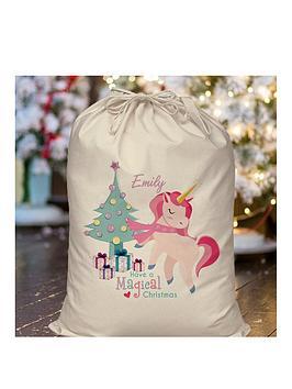 personalised-unicorn-chirstmas-sack
