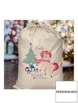personalised-unicorn-christmas-sack