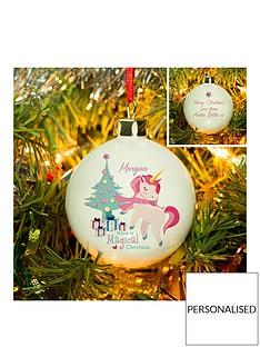 personalised-magical-unicorn-christmas-bauble