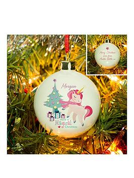 personalised-magical-unicorn-christmas-bauble