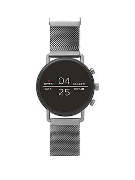 skagen-skagen-full-dipslay-gunmetal-stainless-steel-mesh-strap-ladies-smart-watch