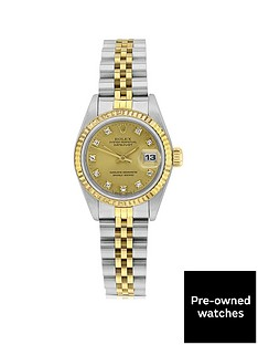 rolex-pre-owned-datejust-original-champagne-diamond-dial-two-tone-stainless-steel-bracelet-ladies-watch-69173