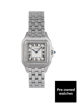 cartier-cartier-pre-owned-panthere-off-white-dial-stainless-steel-bracelet-ladies-watch-1320