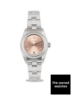 rolex-pre-owned-oyster-perpetual-salmon-3-6-9-dial-stainless-steel-bracelet-ladies-watch-76080