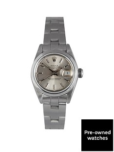 rolex-pre-owned-datejust-silver-baton-dial-stainless-steel-bracelet-ladies-watch-69160