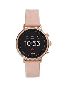 fossil-fossil-q-venture-full-display-glitz-bezel-pink-leather-strap-ladies-smart-watch