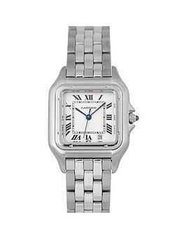 cartier-cartier-pre-owned-panthere-off-white-dial-stainless-steel-bracelet-mens-watch-1310