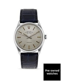 rolex-pre-owned-air-king-silver-dial-stainless-steel-bracelet-mens-watch-5500