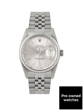 rolex-pre-owned-datejust-silver-baton-dial-stainless-steel-bracelet-mens-watch-16014