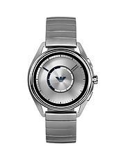 f054220403af3 Emporio Armani Full Display Silver Dial Stainless Steel Monolink Bracelet  Mens Smart Watch