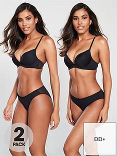 dorina-joyce-2-pack-plunge-bra-black