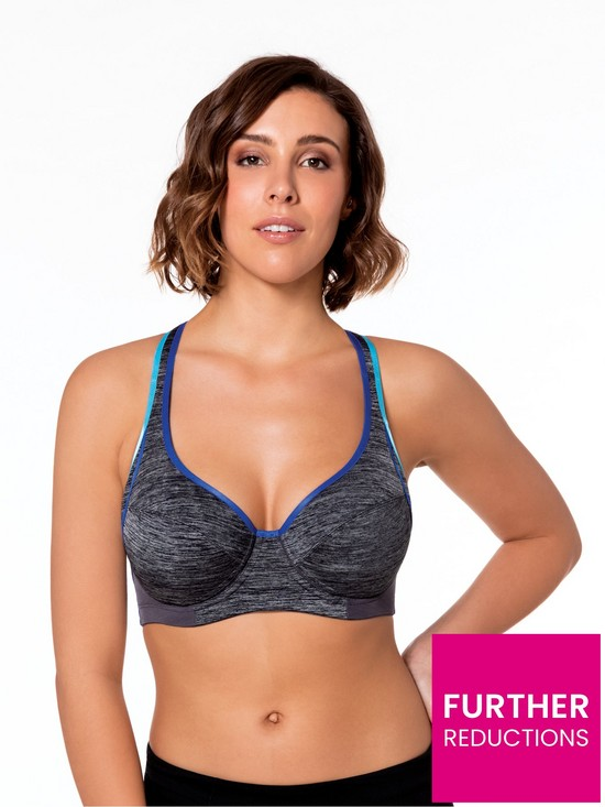 9f834c9fc3e DORINA Curves Spirit Sports Bra - Grey Melange | very.co.uk