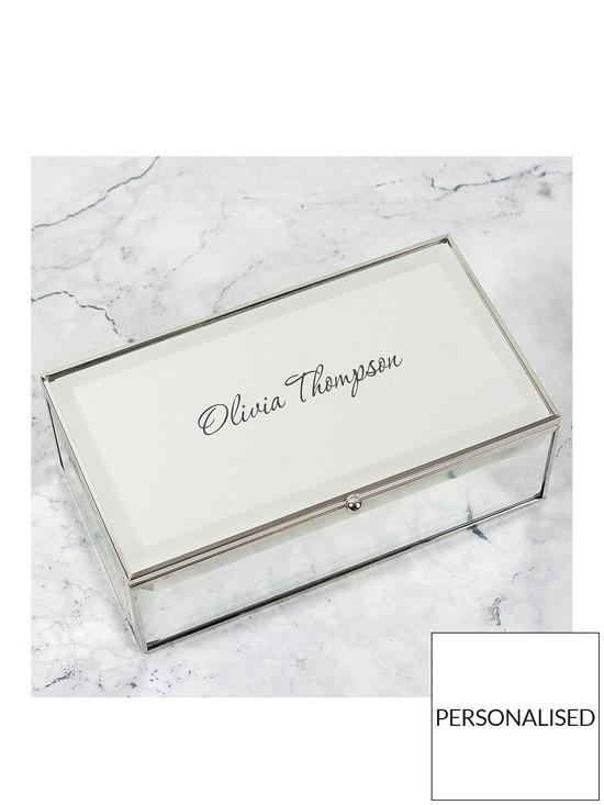 Personalised Glass Mirrored Jewellery Box