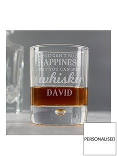 personalised-whiskey-bubble-glass-tumbler