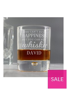 personalised-whisky-bubble-glass-tumbler