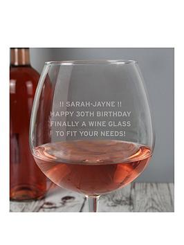 personalised-large-wine-glass-general-message