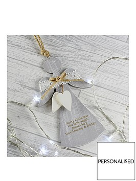 personalised-grey-wooden-rustic-angel-decoration