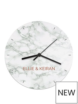 personalised-marble-effect-wall-clock